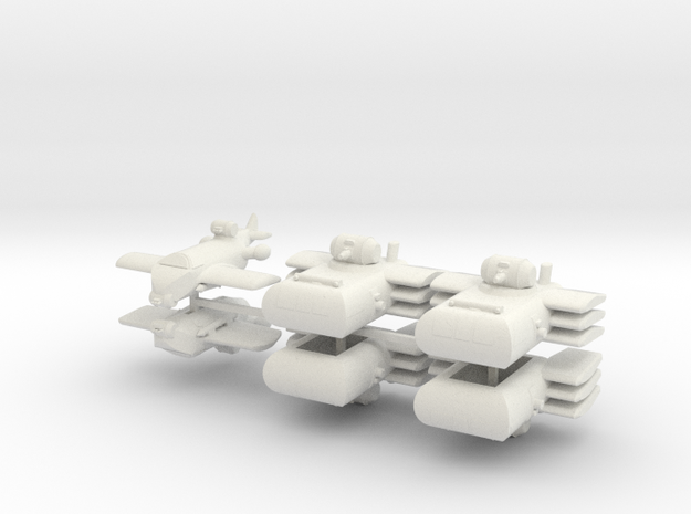 French Small Fleet (6 ships) 6mm 3d printed