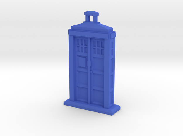 Police Box pendant in Blue Processed Versatile Plastic