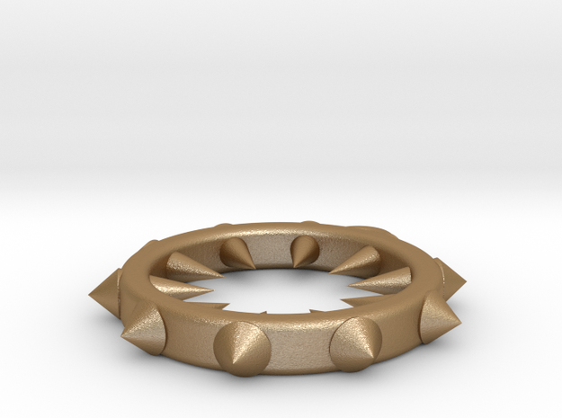 Ring of Spikes Pendant 3d printed