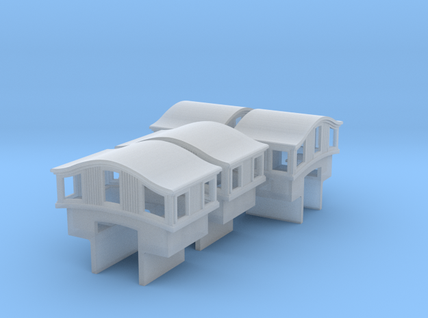 A28 N 'Bombay' roof caboose cupola, MT, int x4 3d printed