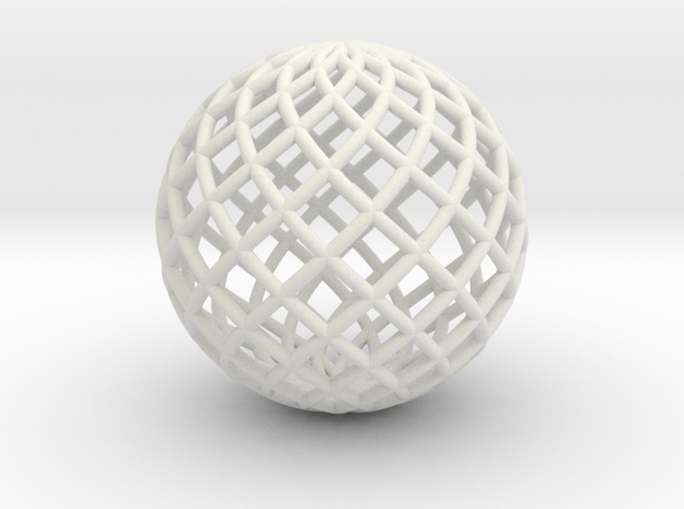 Ball 1 in White Natural Versatile Plastic