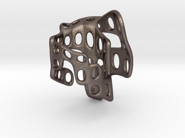 s4r018s5 GenusReticulum  in Polished Bronzed Silver Steel