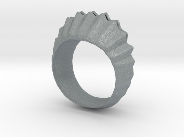 sea shell ring in Polished Metallic Plastic