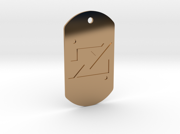 zod kandorian dog tag double sided 3d printed