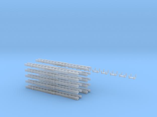 Steckleiterset B+B B+B+Fussteil Kopfteil10x  in Smooth Fine Detail Plastic