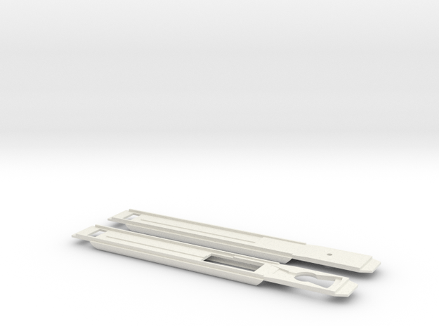 Mat '46 (1:160) Chassis in White Natural Versatile Plastic