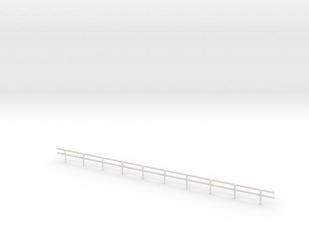 HO-Scale Wood Guard Rail in White Natural Versatile Plastic