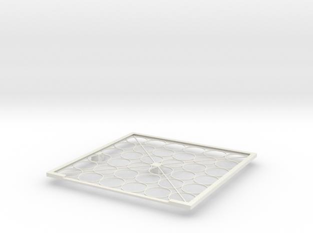 Solar panel frame in White Natural Versatile Plastic