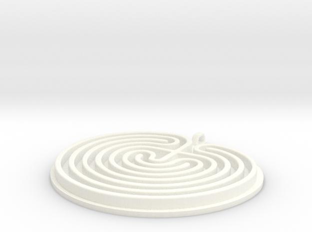 Classical Labyrinth Pendant 3d printed