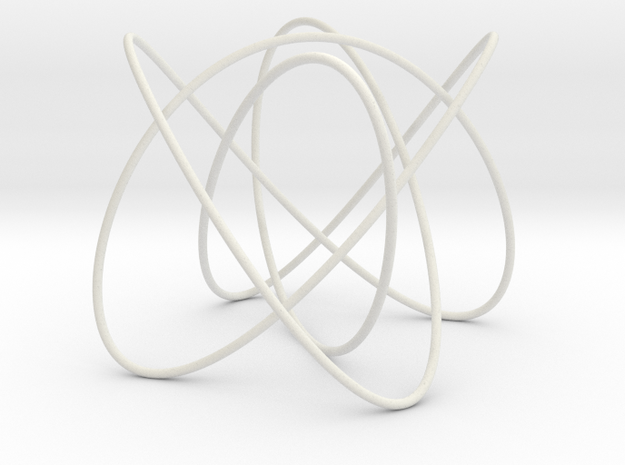 Lissajous (4, 3, 5) (0, π/2, 0) in White Natural Versatile Plastic