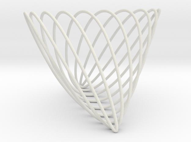 Lissajous (7, 3, 10) in White Natural Versatile Plastic