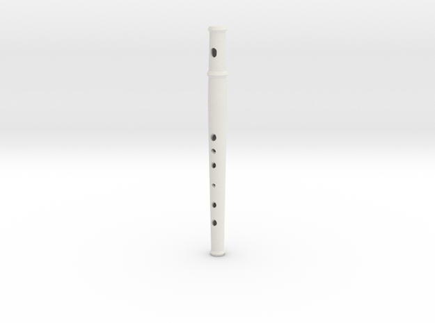 Pflute, soprano, tapered bore 3d printed