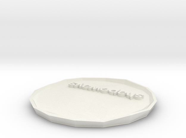 SHAPEWAYS PLATE variant 4 3d printed