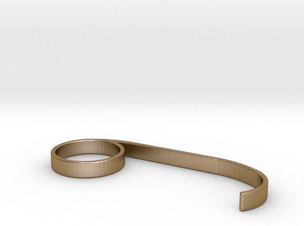 Meatpacking fashion Ring 3d printed