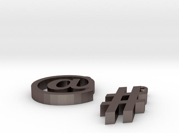Twitter Earrings 3d printed