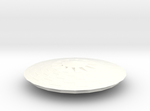 Dome5 Bigger, flatter in White Processed Versatile Plastic
