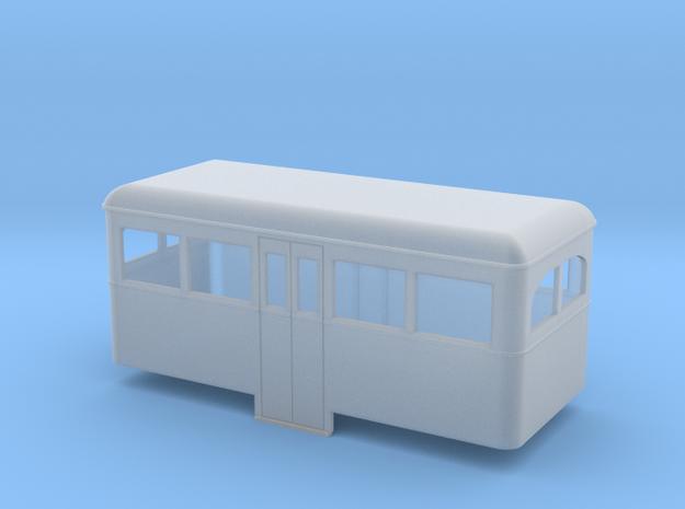 OO9 rail bus 4w center car 3d printed