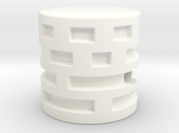 Maze Style knob in White Strong & Flexible Polished