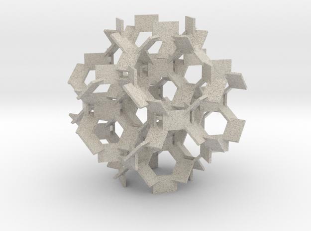 Lattice of Rectangles in 6 Orientations 3d printed