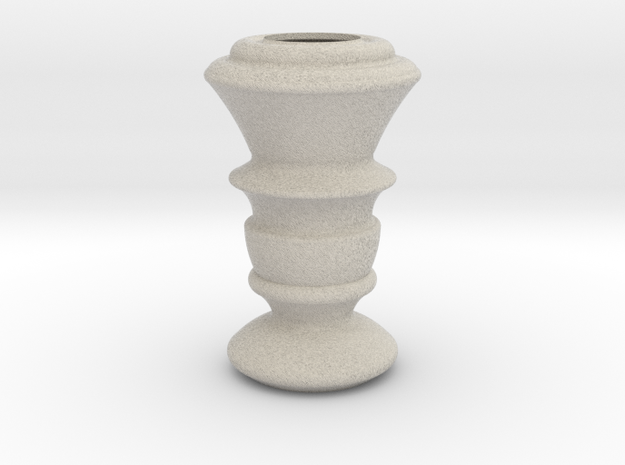 Flower Vase_19 in Sandstone