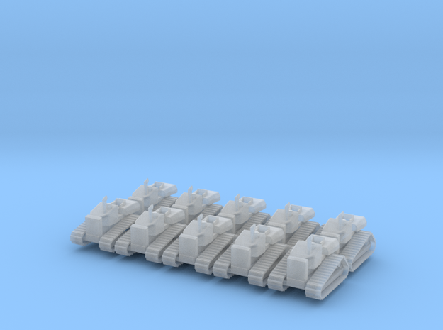 Caterpillar D4H - set of 10 - Z scale in Smooth Fine Detail Plastic