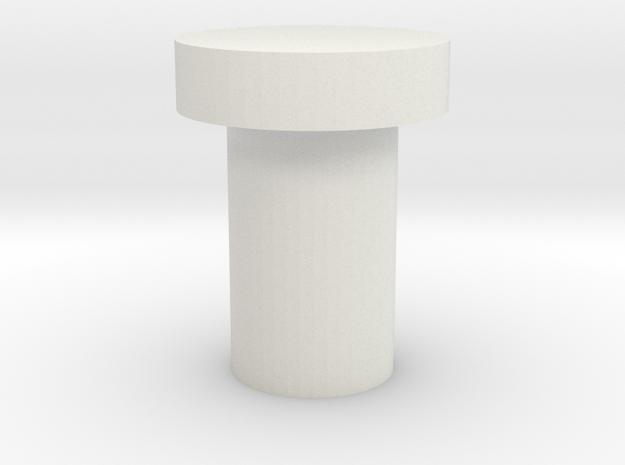 2.1mm Kill Key - Flat Top in White Natural Versatile Plastic