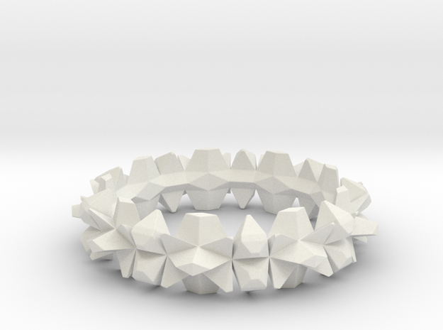 bangle 002 solid 75mm in White Natural Versatile Plastic