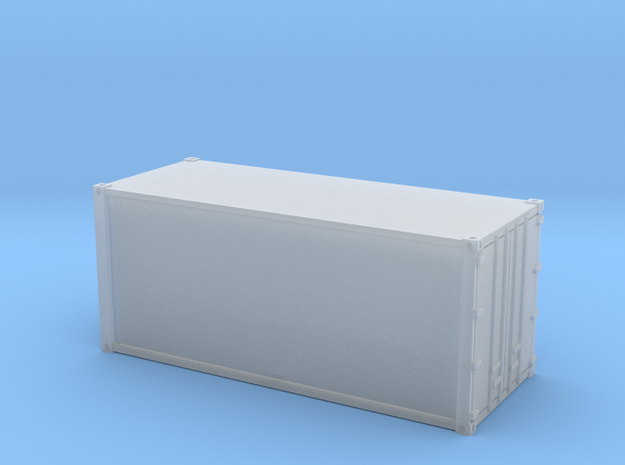 20ft Container Smooth, (NZ120 / TT, 1:120) 3d printed