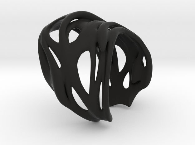 Tafone 111 Ring - Silver 3d printed