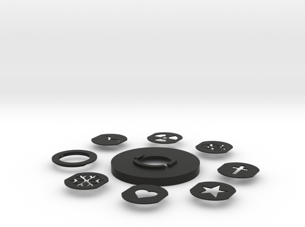 Photography Creative aperture set (fits over 55mm  3d printed