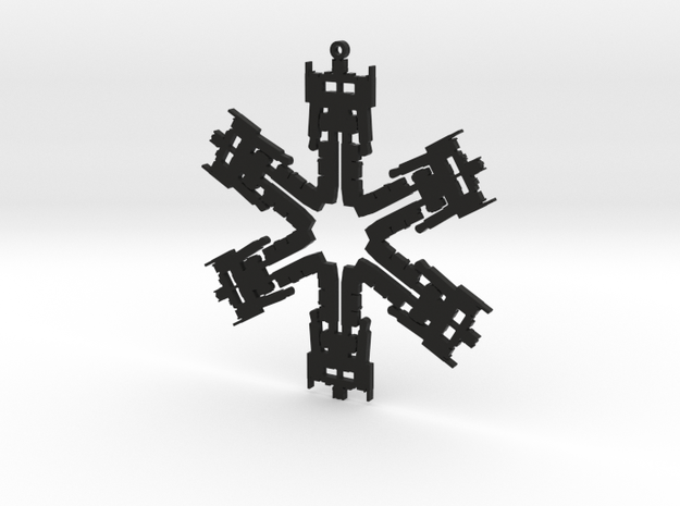 Snowflake Optimus Prime Ornament 3d printed