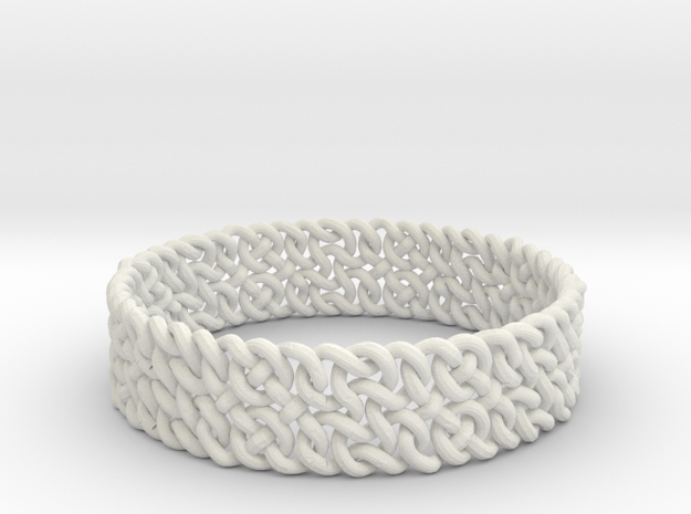 Islamic Woven Bracelet in White Natural Versatile Plastic