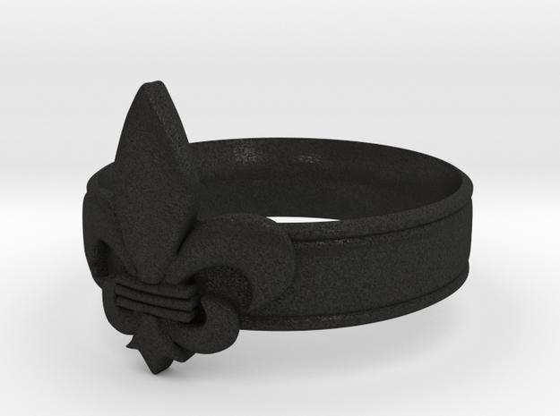 Fleur-de-lis Ring  3d printed