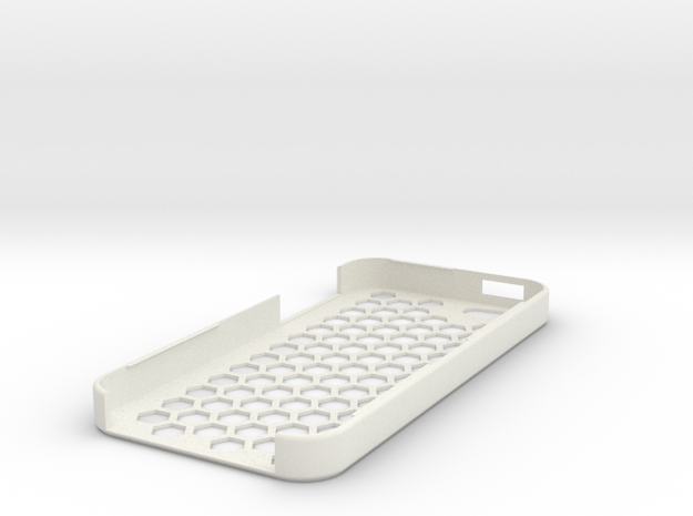 iPhone 5 Honey Comb Plug Case in White Natural Versatile Plastic