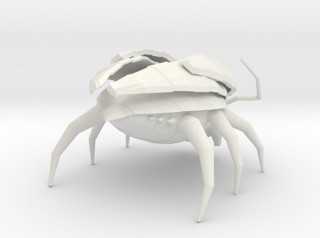 Low Poly Insect 1 in White Natural Versatile Plastic