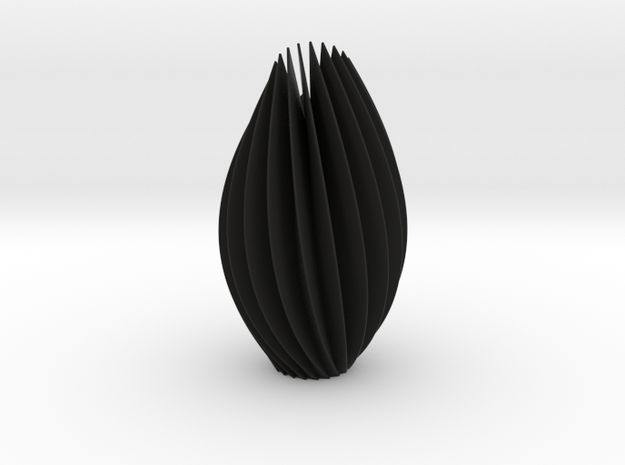 Twist Sculpture in Black Natural Versatile Plastic