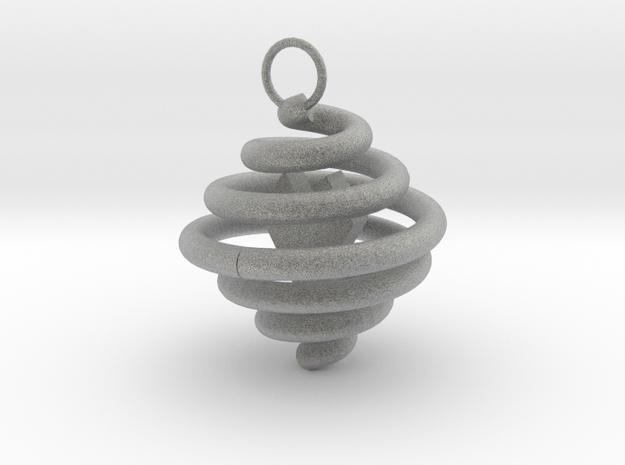 Spiral Pendant by Ben Hart in Metallic Plastic