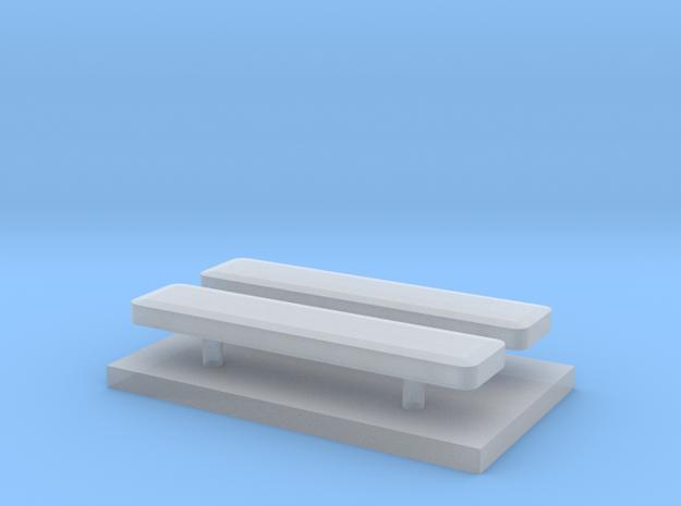 Whelen lightbar 16,1 mm 2 stuks 1/87 in Smooth Fine Detail Plastic