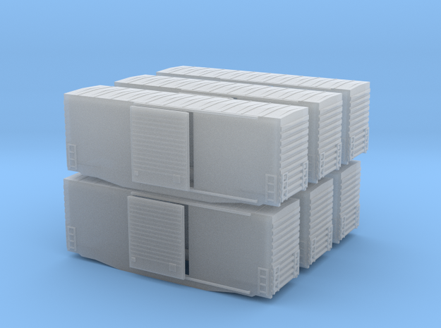 Z Scale high cube 40 x6 in Smooth Fine Detail Plastic