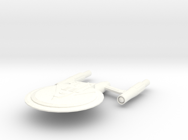 USS Concord (Refit) in White Strong & Flexible Polished