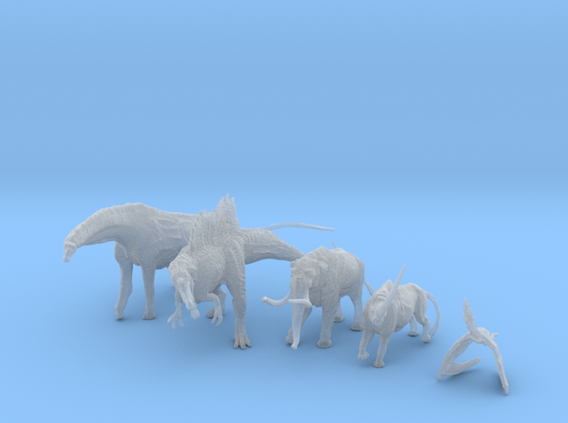 Mini Prehistoric Collection 1 3d printed A pack of mini prehistoric creatures ©2012-2014 RareBreed