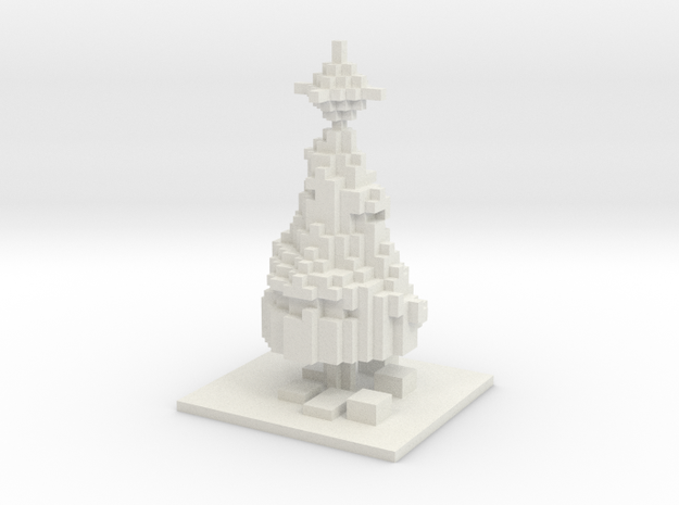 Minecraft Christmas Tree 3d printed