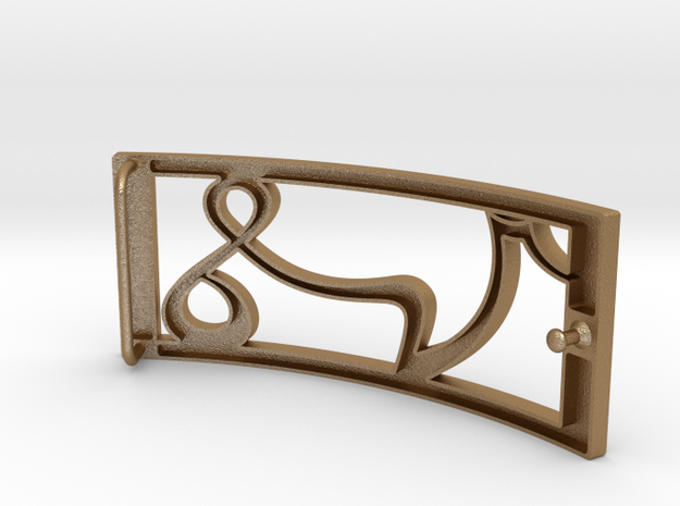 Belt buckle VS by SV 3d printed