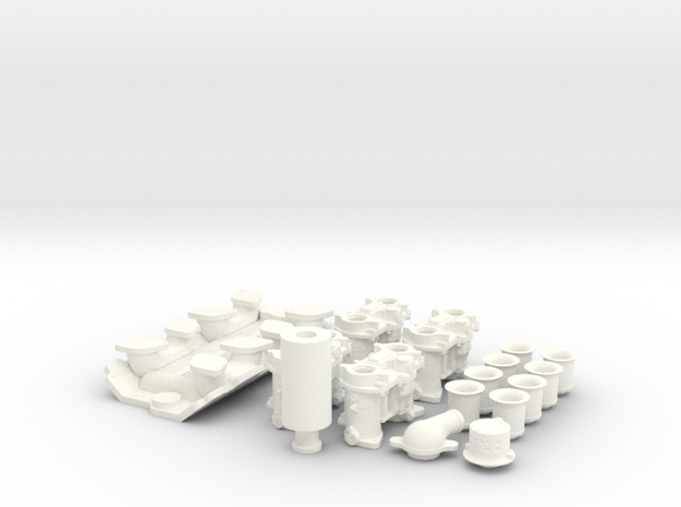 1/8 SBC Weber Intake System 3d printed
