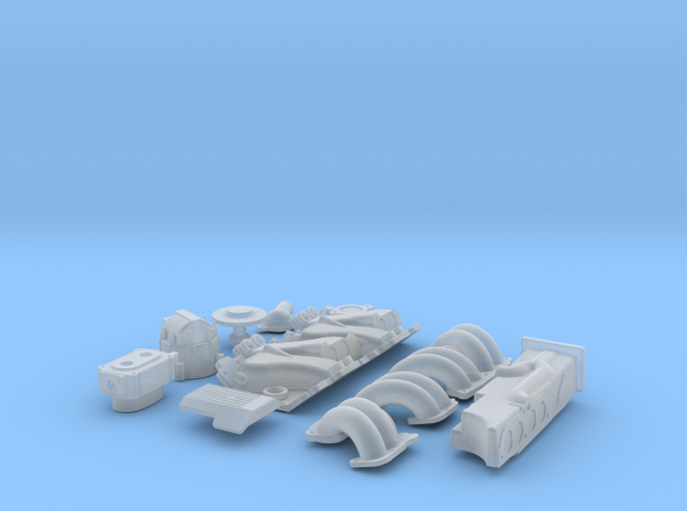 1/16 SBC TPI Intake System 3d printed
