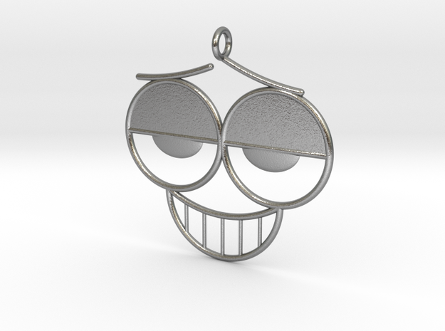 The Grin Pendant/Earring in Natural Silver