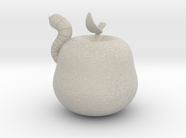 Wormy Apple 3d printed