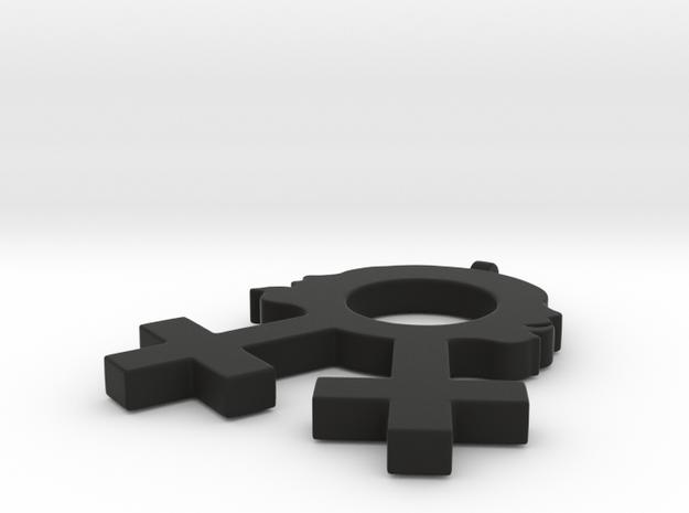 Sexy Lesbian Symbol Pendant 3d printed
