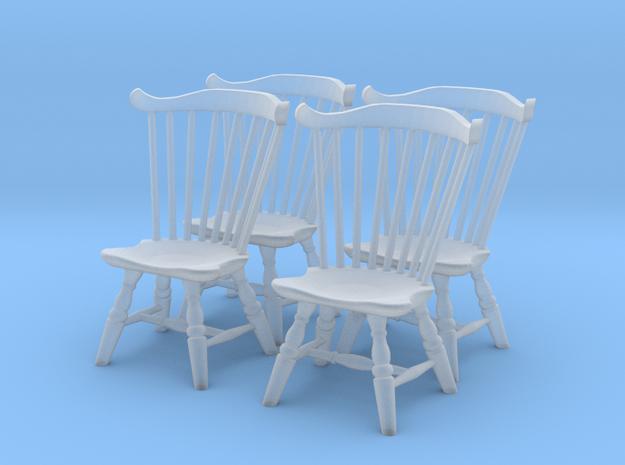 1:48 Windsor Chair, Fan Back - Set of 4 3d printed