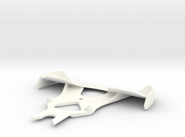 Winged F1 Bumper V1 in White Processed Versatile Plastic